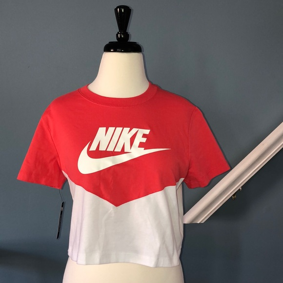 6a4e1058 Nike Tops | Womens Heritage Crop Tshirt | Poshmark